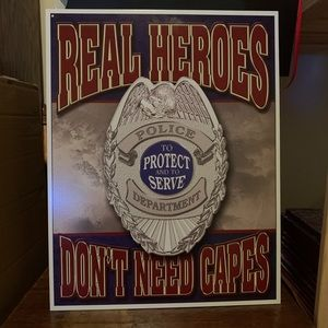 Metal Sign Police